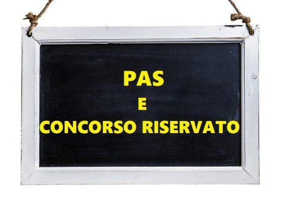 PAS E CONCORSO RISERVATO